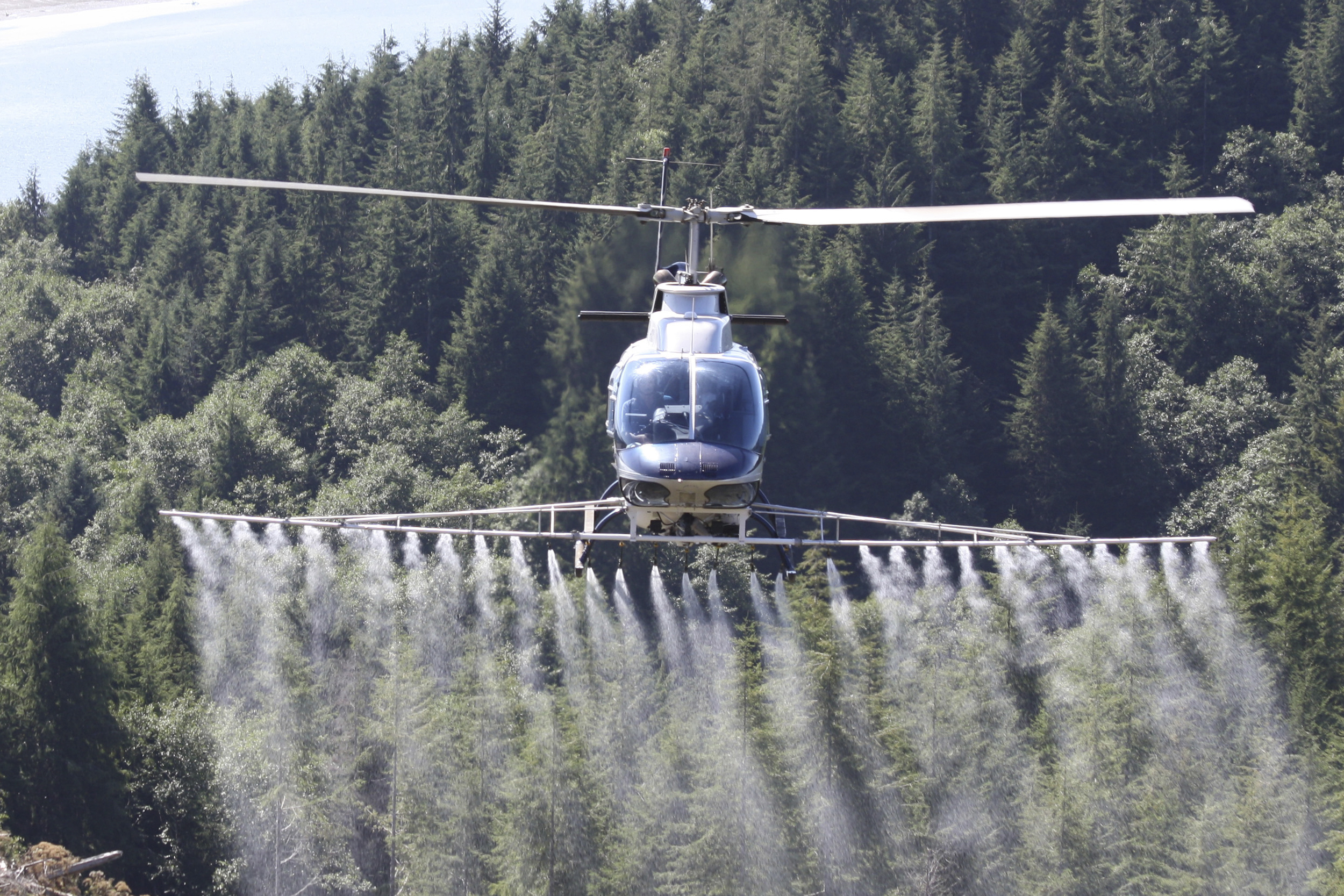 Forestry application by helicopter